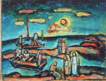 《キリストと漁夫たち》 ルオーと風景、くらくてあかるい、おだやかでさびしい